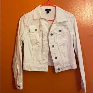 White jean jacket.